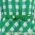 【9〜11号】オリジナルプリントギンガムチェックのワンピース♪(エナメルリボンベルトつき)【お呼ばれ、パーティー、同窓会、】【日本製】